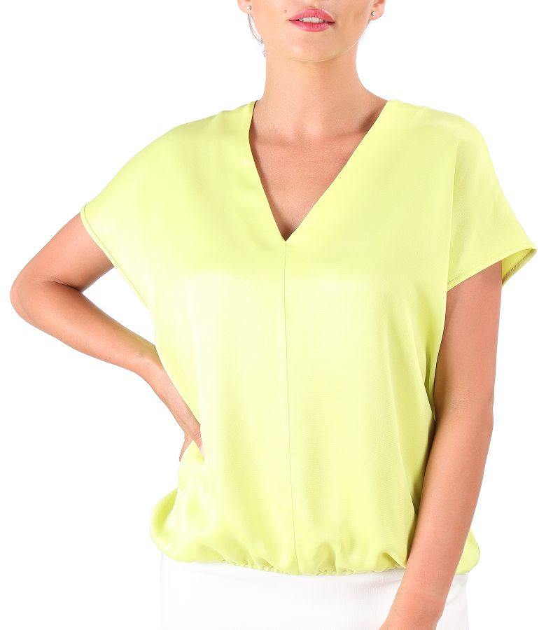 Casual blouse made of satin viscose