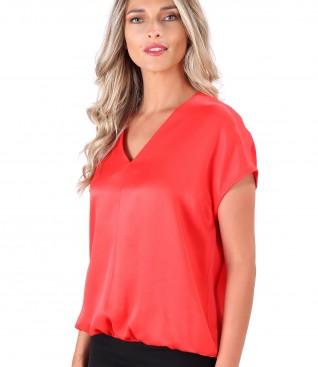 Casual blouse made of satin viscose