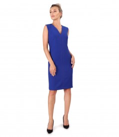 Office dress with contrast seam