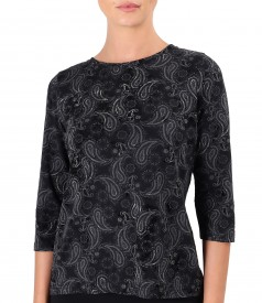 Blouse made of thick elastic jersey