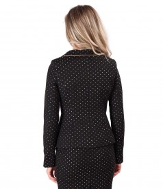 Office jacket made of cotton with crystals inserts