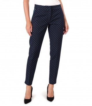 Office pants made of brocade cotton
