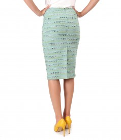 Tapered skirt made of wool