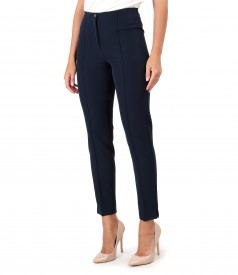 Ankle pants with stripe sewn on the face