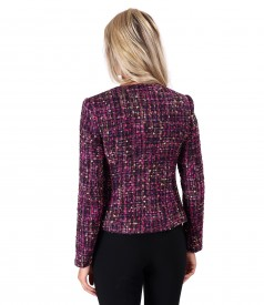 Elegant multicolored wool jacket