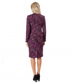 Office women suit with skirt and jacket made of wool