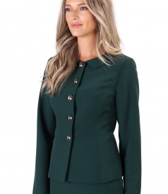 Office jacket made of elastic fabric with collar