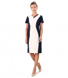 Elastic fabric dress in two colors