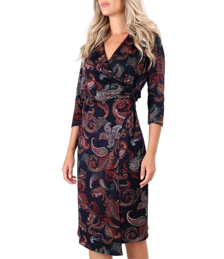 Dress made of printed elastic jersey