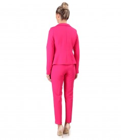 Office women suit with pants and elastic fabric jacket
