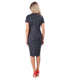 Midi dress made of paisley printed elastic jersey