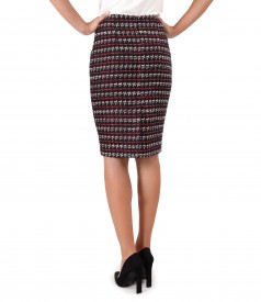 Elegant skirt made of multicolored loops