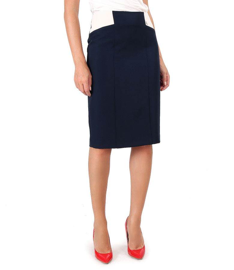 Elastic fabric skirt in two colors