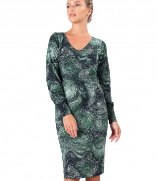 Midi dress made of thick elastic jersey