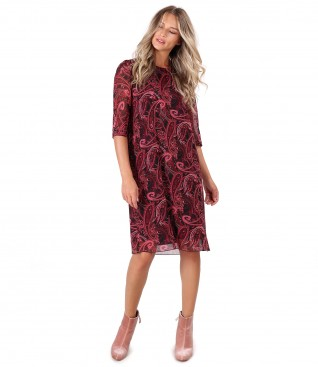 Casual dress made of paisley printed veil