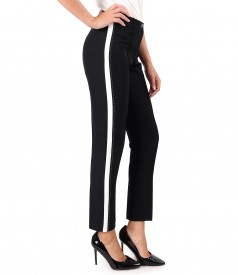 Ankle pants with white insert on the sides