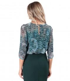 Elegant veil blouse