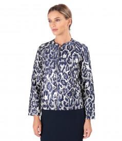Elegant brocade jacket with metallic thread