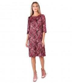 Casual dress made of paisley printed satin