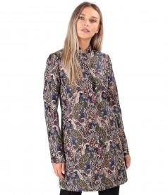 Brocade jacket with metallic thread paisley print
