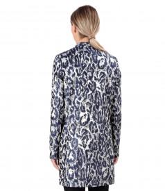 Brocade jacket with metallic thread