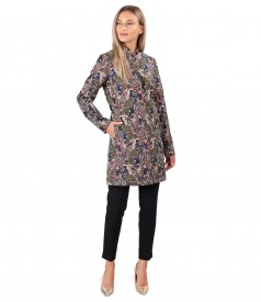 Elegant outfit with brocade jacket and ankle pants