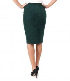 Elegant skirt made of wool and alpaca