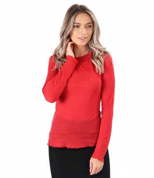 Warm blouse made of wool
