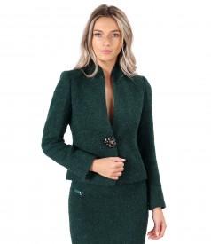 Elegant wool made of wool and alpaca