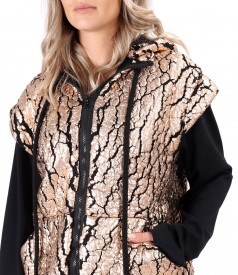 Thick jacket made of 3D fabric