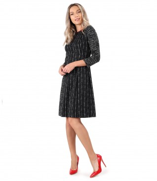 Flared dress made of thick elastic jersey