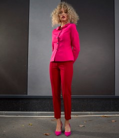 Office women suit with ankle pants and jacket