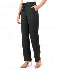 Casual pants made of thick elastic jersey
