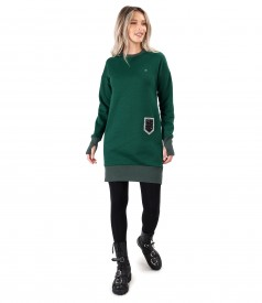 Sweatshirt dress made of thick cotton