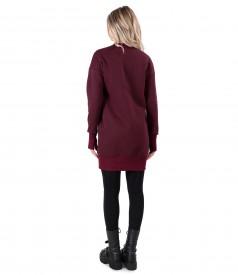 Sweatshirt dress made of thick cotton