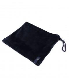 Neckband-cap made of soft elastic velvet