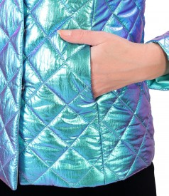 Elegant jacket made of waterproof quilted fabric