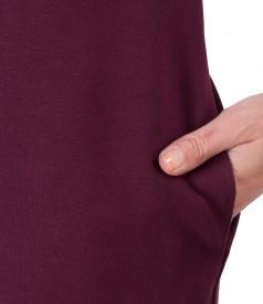 Midi dress made of soft elastic jersey