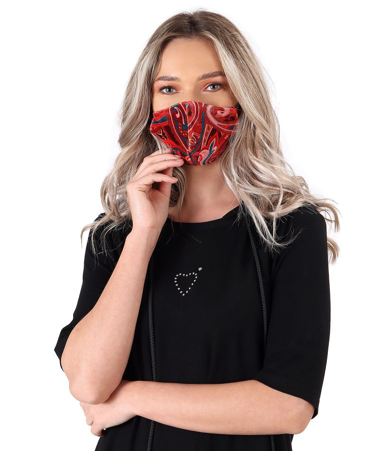 Reusable printed velvet mask