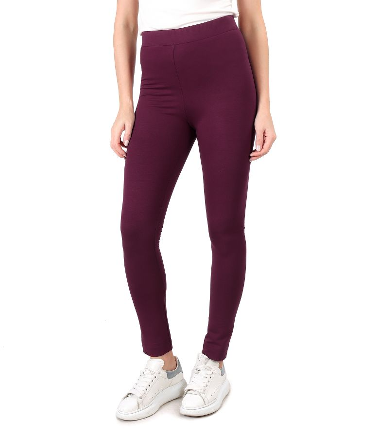 Elastic jersey leggings