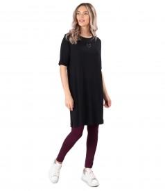 Elastic jersey casual dress