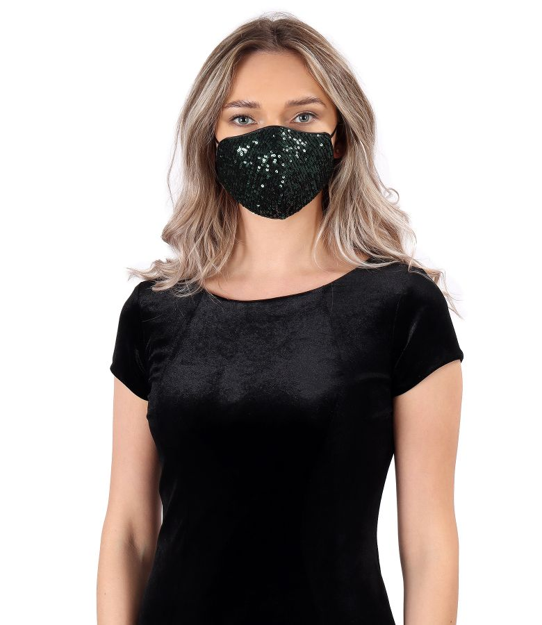 Reusable mask with reversible sequins