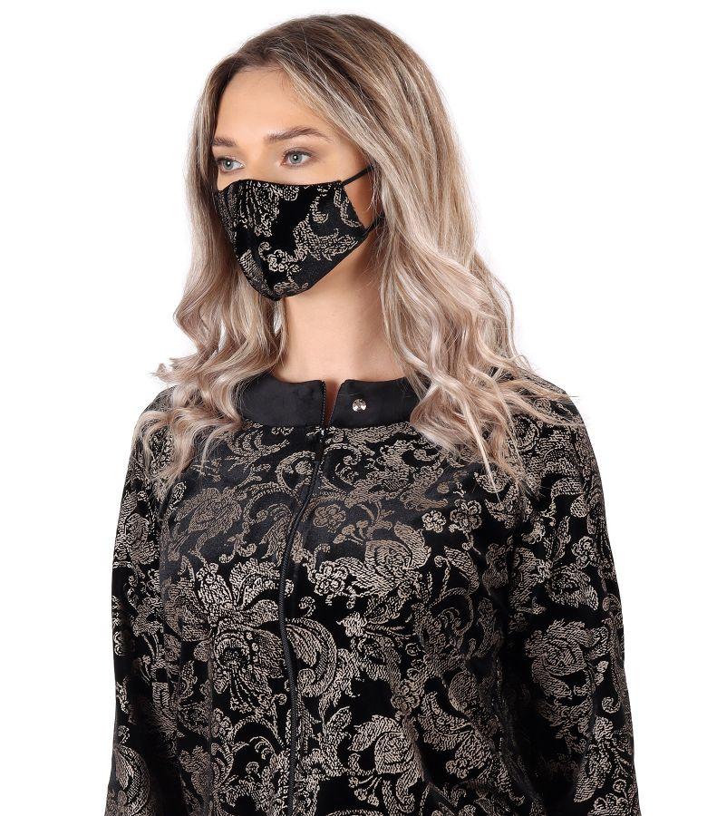 Reusable printed velvet mask