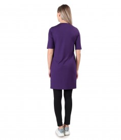 Casual dress made of elastic jersey