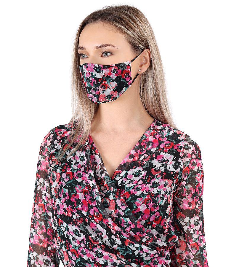 Reusable printed veil mask