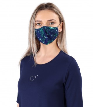 Reusable printed veil mask
