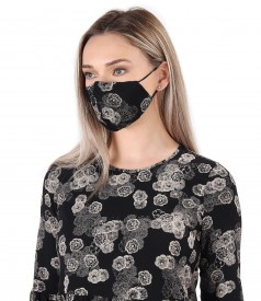 Reusable printed viscose mask