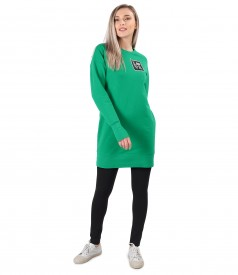 Sweatshirt dress made of cotton