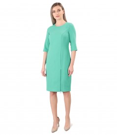 Office dress with zipper on the front
