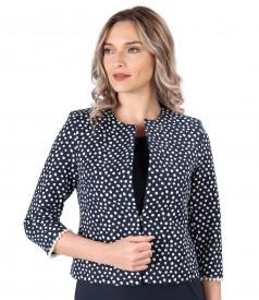 Elegant elastic cotton jacket